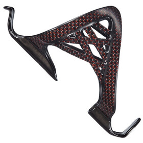 Supacaz Spider Cage Bottle Holder Carbon, red